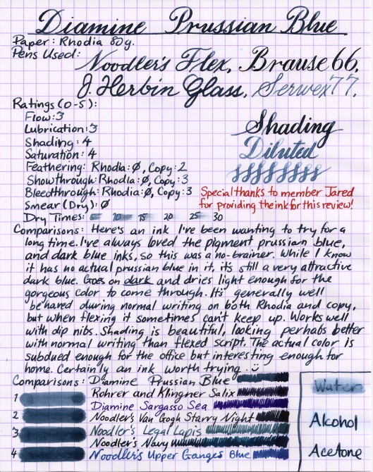 Diamine Prussian Blue (Medium)