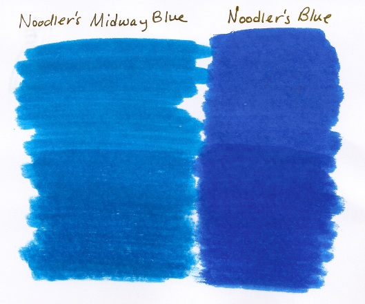 Noodler's Blue vs Midway Blue (Medium)